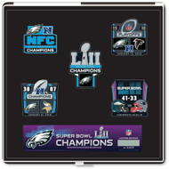 Philadelphia Eagles Super Bowl LII Champions Commemorative Pin Set - Limited Edition