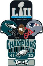 Super Bowl LII 52 Commemorative Lapel Pin
