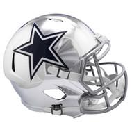 Dallas Cowboys Speed Riddell Replica Full Size Helmet - Chrome Alternate
