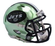 New York Jets Speed Riddell Replica Full Size Helmet - Chrome Alternate