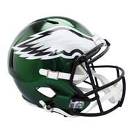 Philadelphia Eagles Speed Riddell Replica Full Size Helmet - Chrome Alternate