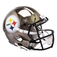 Pittsburgh Steelers Speed Riddell Replica Full Size Helmet - Chrome Alternate