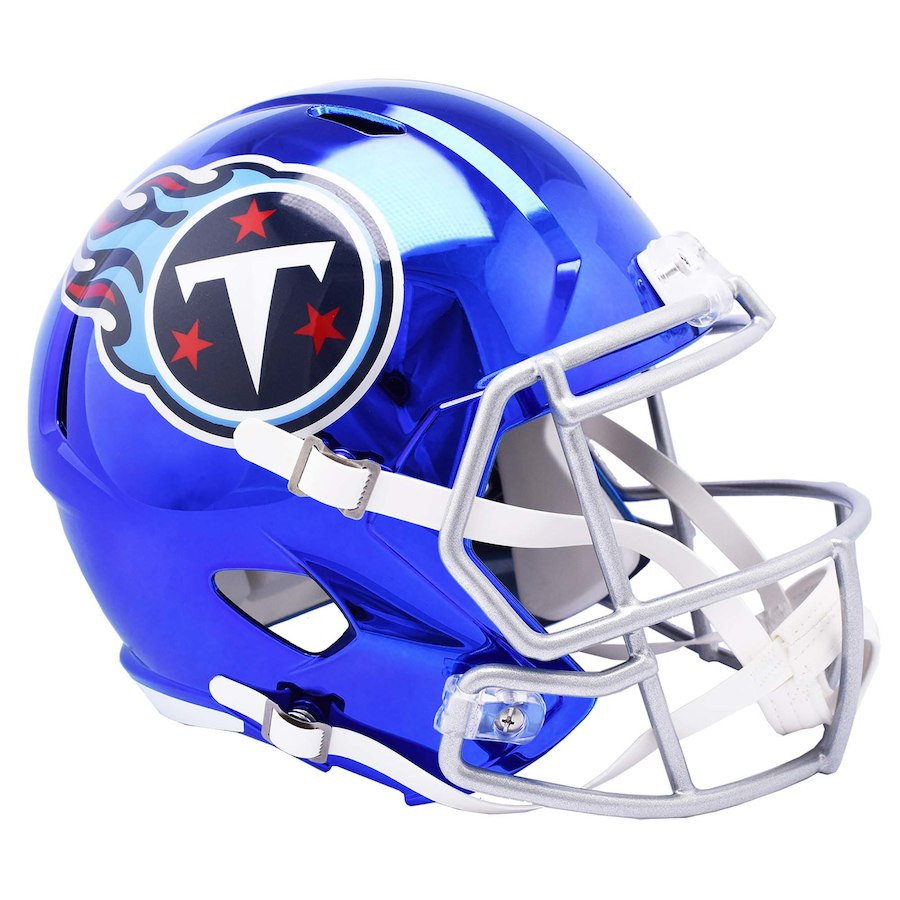 ecaee0b32 Tennessee Titans Speed Riddell Replica Full Size Helmet - Chrome Alternate.  Riddell. Image 1