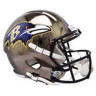 Baltimore Ravens Speed Riddell Replica Full Size Helmet - Chrome Alternate