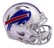 Buffalo Bills Speed Riddell Replica Full Size Helmet - Chrome Alternate