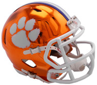 Clemson Tigers Alternate Chrome NCAA Riddell Speed Mini Helmet