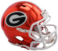 Georgia Bulldogs Alternate Chrome NCAA Riddell Speed Mini Helmet