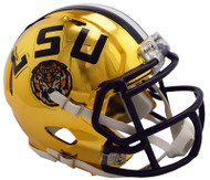 LSU Tigers Alternate Chrome NCAA Riddell Speed Mini Helmet