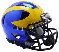 Michigan Wolverines Alternate Chrome NCAA Riddell Speed Mini Helmet