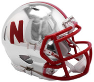 Nebraska Cornhuskers Alternate Chrome NCAA Riddell Speed Mini Helmet