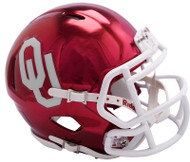 Oklahoma Sooners Alternate Chrome NCAA Riddell Speed Mini Helmet