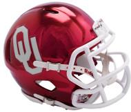 Oklahoma Sooners Alternate Chrome NCAA Riddell Speed Mini Helmet