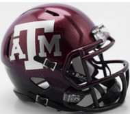 Texas A&M Aggies NEW 2018 Two Tone NCAA Riddell SPEED Mini Helmet