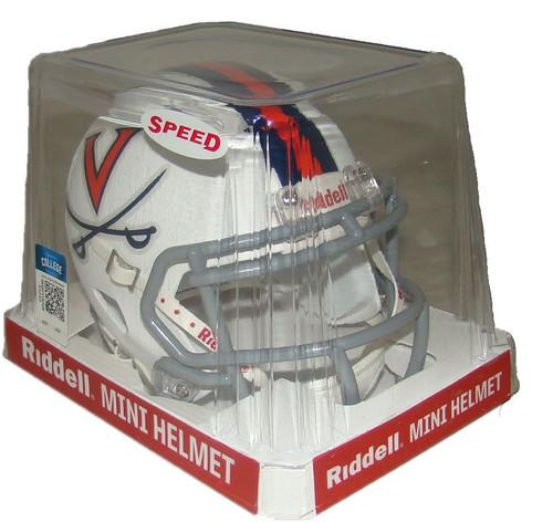 Virginia Cavaliers White NCAA Riddell Speed Mini Helmet Front