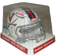 Virginia Cavaliers White NCAA Riddell Speed Mini Helmet Front