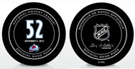 Adam Foote #52 Colorado Avalanche Special Retirement Official NHL Game Puck in Cube