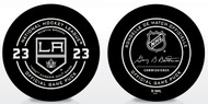 Dustin Brown #23 - 1000th Game Special Los Angeles Kings Official NHL Game Puck in Cube