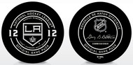 Marián Gáborík #12 - 1000th Game Special Los Angeles Kings Official NHL Game Puck in Cube