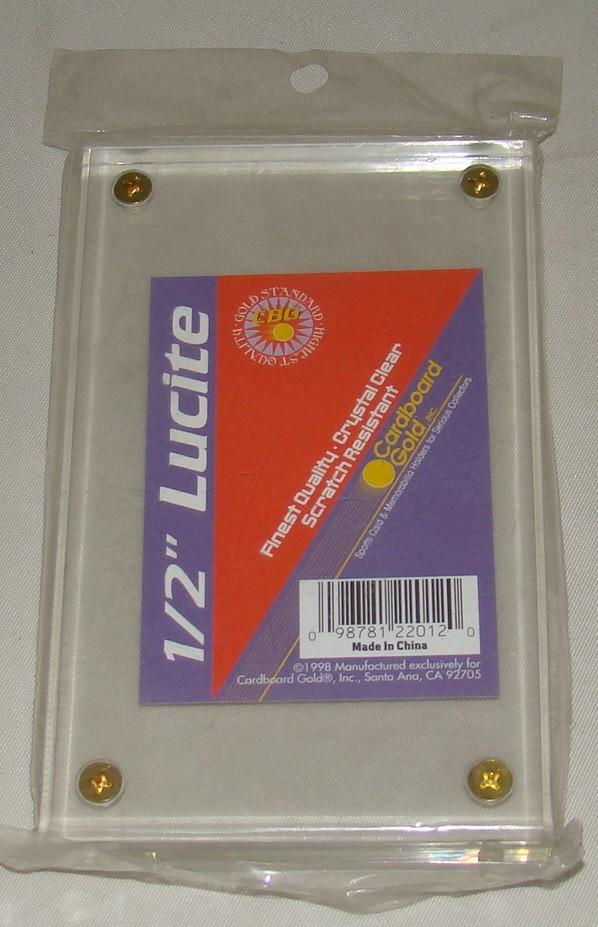 Cardboard Gold 4 Screw 12 Lucite Brick Slab Deluxe Card Holder