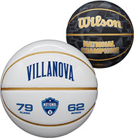 Villanova Wildcats 2018 NCAA Men's Basketball National Champions Wilson Official Size White Panel Basketball