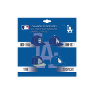 Los Angeles Dodgers MLB On-Field Cap Timeline Enamel Lapel Pin Set