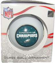 Philadelphia Eagles Super Bowl LII Champions Glass Ball Christmas Ornament