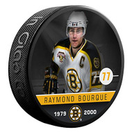 Raymond Bourque (Boston Bruins) The Alumni Product Line Souvenir Hockey Puck