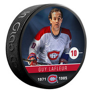 Guy Lafleur (Montreal Canadiens) The Alumni Product Line Souvenir Hockey Puck