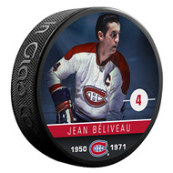 Jean Beliveau (Montreal Canadiens) The Alumni Product Line Souvenir Hockey Puck