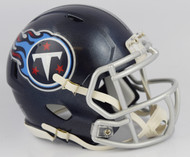 Tennessee Titans 2018 Satin Navy Metallic Revolution SPEED Mini Helmet