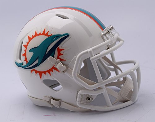 Miami Dolphins 2018 Logo Riddell Revolution Speed Mini Football