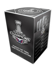 2018 Stanley Cup Finals Pack of 5 Puck Set Official Game Hockey Pucks Cubed (Games 1-5) Washington Capitals vs. Las Vegas Golden Knights - In Collectors Box