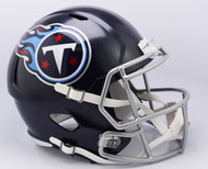 Tennessee Titans 2018 Satin Navy Metallic SPEED Riddell Full Size Replica Helmet
