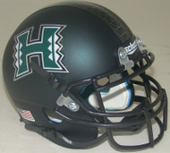 Hawaii Rainbow Warriors Alternate Matte Dark Green Schutt Mini Authentic Helmet