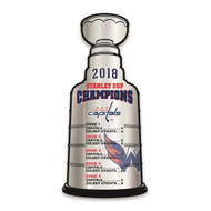 Washington Capitals 2018 NHL Champions Stanley Cup Metal Sign