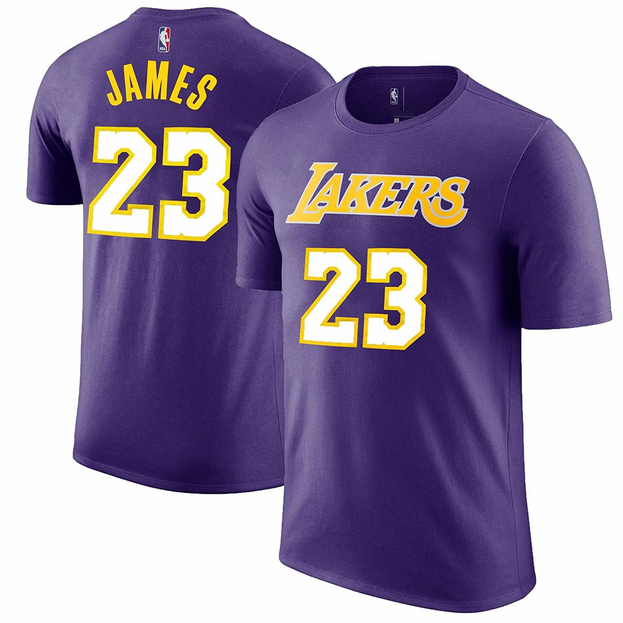 LeBron James Los Angeles Lakers  23 Purple NBA Youth Name   Number T-shirt.  OuterStuff. Image 1 05e6e4411