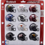 2018 NCAA Big 12 Pocket Pro Speed Revolution Mini Helmets Set by Riddell