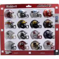 2018 NCAA BIG 10 Pocket Pro Speed Revolution Mini Helmets Set by Riddell