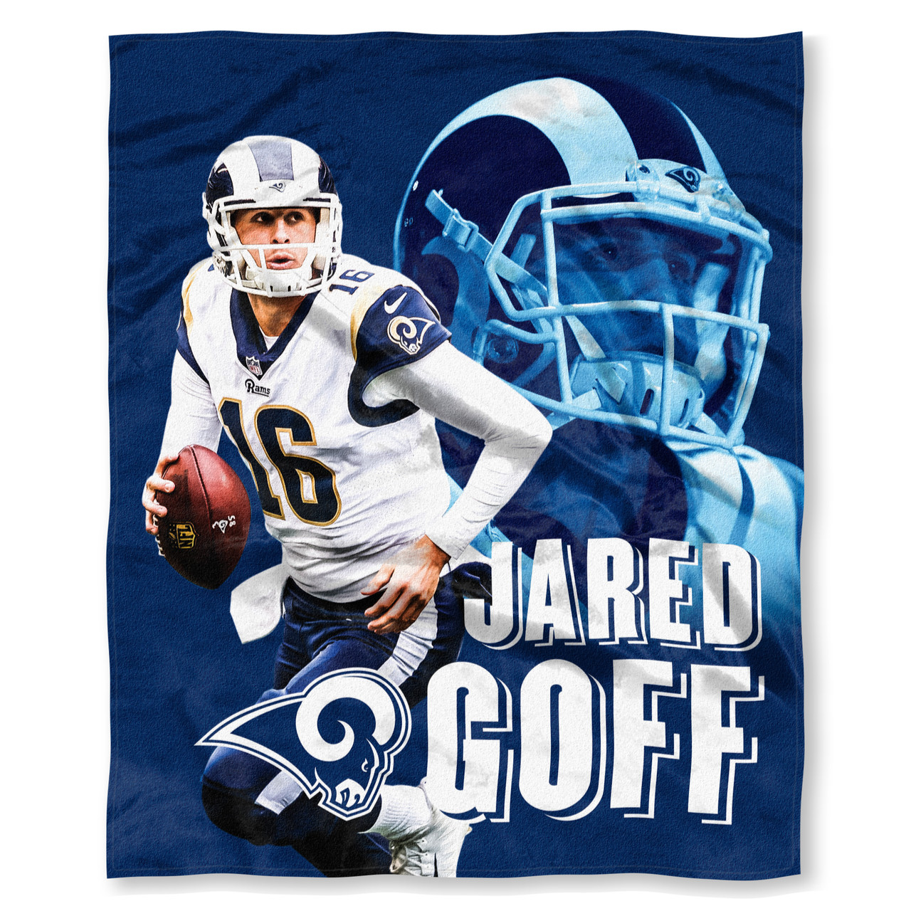 5b0ae25d NFL Jared Goff Los Angeles Rams Silk Touch Throw Blanket Size 50