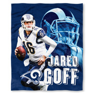 "NFL Jared Goff Los Angeles Rams Silk Touch Throw Blanket Size 50"" x 60"""