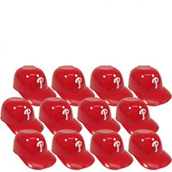 Philadelphia Phillies MLB 8oz Snack Size / Ice Cream Mini Baseball Helmets - Quantity 12