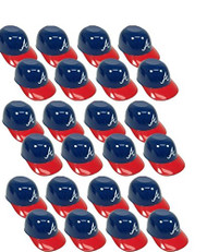 Atlanta Braves MLB 8oz Snack Size / Ice Cream Mini Baseball Helmets - Quantity 24