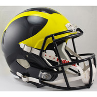 Michigan Wolverines SPEED Riddell Full Size Replica Helmet