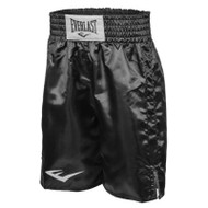 Standard Boxing Trunks - Bottom Of Knee (All Black) - 2XL