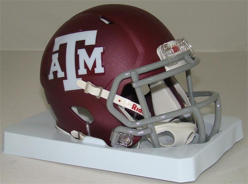 Texas A M Aggies Ncaa Riddell Speed Mini Helmet
