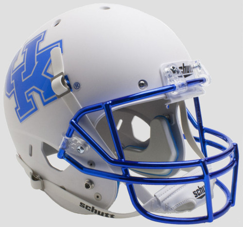 Kentucky Wildcats Alternate White Chrome Mask Schutt Full Size Replica XP Football Helmet