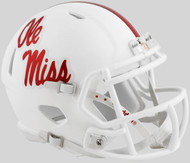 Mississippi (Ole Miss) Rebels Alternate White NCAA Riddell SPEED Mini Helmet