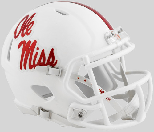 Mississippi (Ole Miss) Rebels Alternate White NCAA Riddell SPEED Mini Football Helmet