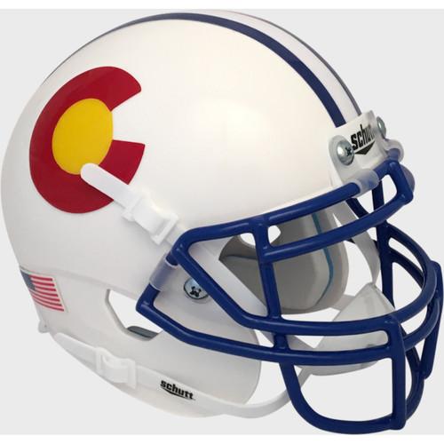 Colorado State Rams Alternate Schutt Mini Authentic Football Helmet