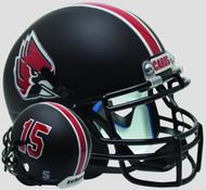 Ball State Cardinals Matte Black Schutt Mini Authentic Football Helmet